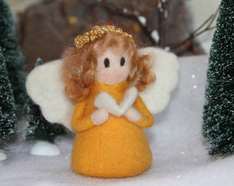 Handcrafted Needle Felted Wool Christmas Doll- Precious Customized Angel