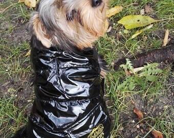 Jacket for dog name black bamboo