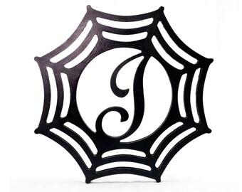 Custom Monogrammed Wood Spiderweb