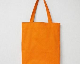 Orange Eco bag, Everyday bag, eco bag, canvas tote bag