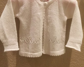 Custom Knit Newborn Girl Sweater