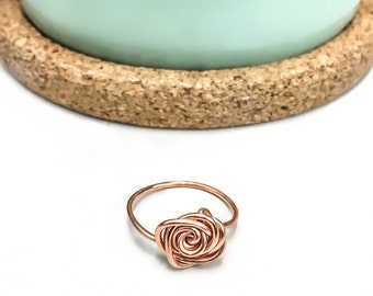 Copper Rose Ring