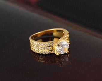 AAA Cubic Zirconia Gold/ Platinum plated ring