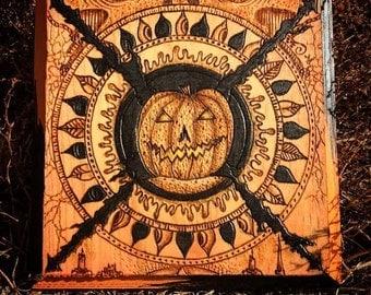 "Seasonal Woodburning ""Rise of the Great Pumpkin"""