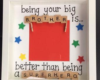 Scrabble Big Brother/Big Sister Frames