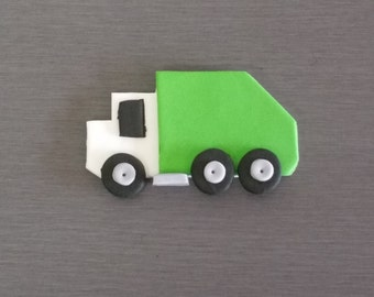 6 x Garbage Truck Cupcake and Cake toppers
