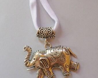 elephant necklace animal tibetan silver