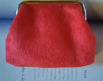 small wallet in red velvet