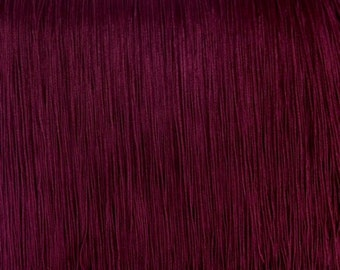 """7"""" inch long Burgundy Chainette Fringe Selling by Yard."""