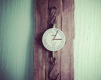 Vintage scale wall clock
