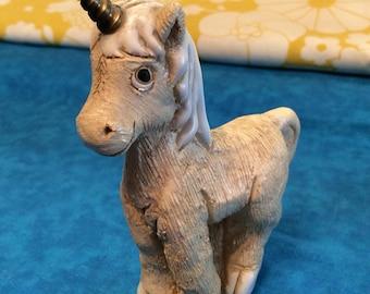 Vintage Unicorn Figurine~ Ceramic Unicorn Sculpture ~ Mythical Fantasy