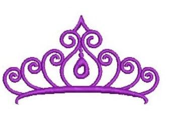 Princess Tiara EMBROIDERY Design Princess Crown Embroidery Design Machine Embroidery Instant Download ER306
