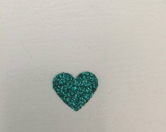 100 count,Glitter heart confetti, Table confetti, Turquoise, Party decor, Bithday party, Bridal shower, baby shower, bachelorette,