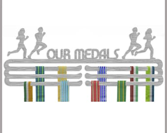 Medal Hanger Display 'Our Medals' Stainless Steel Triple Tier