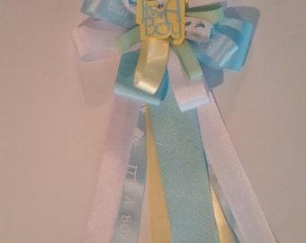 It's A Boy Ribbon Corsage