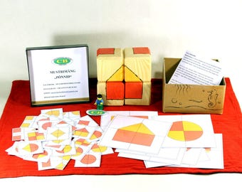 Wooden block puzzle, Master of Ideas, Big Wooden blocks, Creativity and Imagination, Montessori, Learning toys
