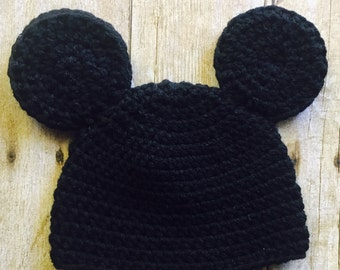 Mickey Mouse Hat, Crochet Mickey Mouse, Mickey Crochet Hat, Baby Hat, Handmade Crochet, Mickey Beanie Hat, Christmas Gift, Baby Photo Prop