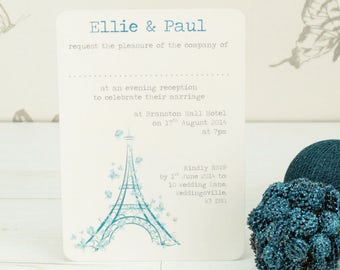 Personalised Paris Save the Date Card