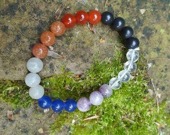 Crystal Chakra Bracelet for Chakra Balancing, Healing and Meditation