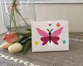 Butterfly Party, Gift Tote, Gift Bag, Gift Box, Euro Tote, Birthdays, Wedding Shower, Baby Showers Favors, Sets of 8,10,12,15,25