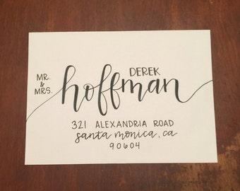 Hand Lettered Envelopes / Wedding Calligraphy - Script Style