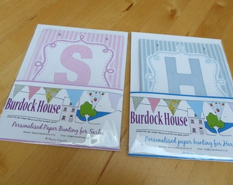 Personalised paper bunting: birthday greetings for little ones