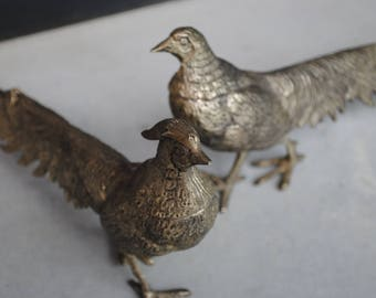 Couple of pheasant bronze vintage