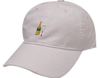 Capsule Design Champagne Cotton Baseball Cap White