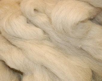 Swaledale  wool roving / tops - 50g. Great for wet felting / needle felting, and hand spinning projects.