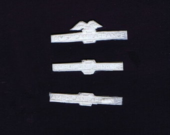 1:25 scale model resin American LaFrance fire truck ALF miniature nameplate