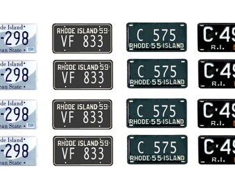 scale model Rhode Island license tag plates