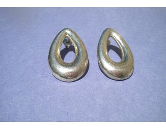 Sterling Silver Teardrop Pierced Earrings Mexico