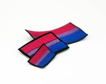 Bisexual Pride Flag Patch, Iron on Patch, Sew on Patch, Pride Flag Pin, Pride Flag Patch, Iron on Pride Patch, Iron on Bisexual Pride Patch