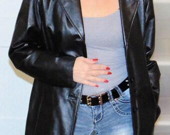 Worthington Black Leather Jacket/coat excellent condition! sz M