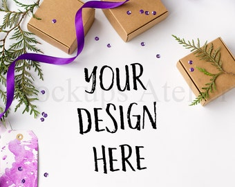 50% OFF SALE Box mockup, MA009, Winter mockup, Styled Stock Photography, Product Mockups, Jpeg Mockup, Product Background, Christmas mockup