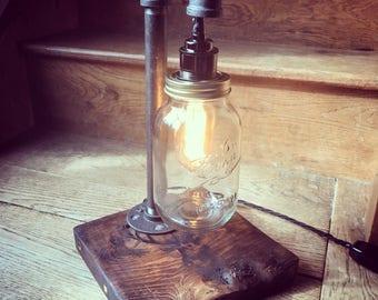 Industrial Stag Mason Jar Lamp
