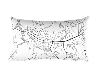 Boone Pillow, Boone NC Map, Boone Art, Boone North Carolina, Boone Decor, Boone Cushion, Boone Throw Pillow, Boone Gift, Boone Throw, Map
