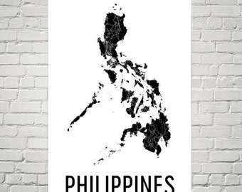 Philippines Map, Map of Philippines, Philippine, Philippines Art, Philippines Print, Philippines Wall Art, From Philippines, Gifts, Decor