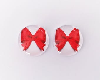 The 'Bows' Glass Earring Studs
