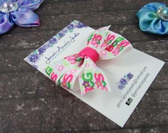 Pinwheel Hair Bow Clip - Big Sis / Lil Sis