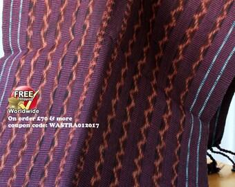 Indonesian Ikat, Flores Handwoven Ikat Cotton Table Runner  - Ikat Wall Hanging, Home Decor, Luxury Fabric, Fibre Art