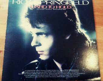 Rick Springfield Hard to Hold Vinyl Record LP 1984 80's Record Album Rock n Roll Hipster Supernatural