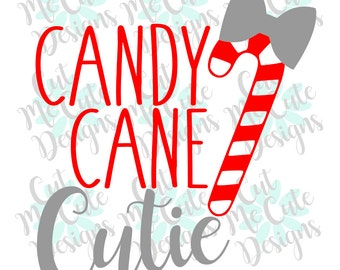 SVG DXF PNG cut file cricut silhouette cameo scrap booking Christmas Candy Cane Cutie