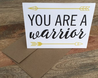 You're a Warrior - Cancer Card
