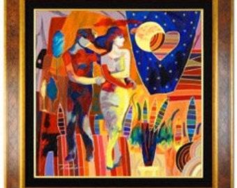 "Tadeo Zavaleta Original Oil Painting Entitled ""Magical Night"""