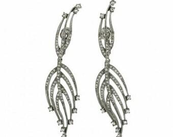 Jomaz 1950s Diamante Vintage Earrings