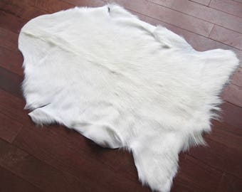 New full size goat hide natural white . FREE SHIPPING in USA and Canada