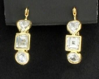 14K Earrings with CZs