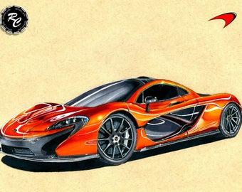 McLaren P1 - Matte Print