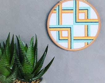 Embroidered hoop art, embroidered wall art, home decor, wall hanging, contemporary art